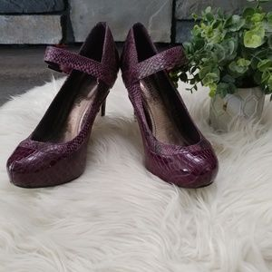 Dollhouse Addiction Purple MaryJane heels size 6.5